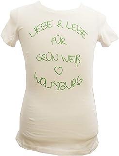 VfL Wolfsburg Damen T-Shirt Liebe&lebe Weiss - Verschiedene Größen S