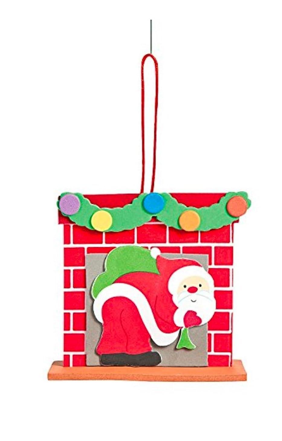 3D Santa Chimney Ornament Foam Craft Kit-makes 12