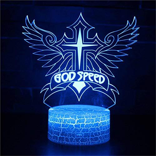 Luz de Noche 3D Táctil Mesa Lámpara de Escritorio BOD Velocidad Led Luz de Noche Lindo 16 Cambio de Color 3D Luz de Navidad Regalo de la Habitación del Bebé Luz