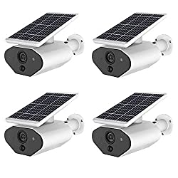 Eight Horses-S 2.0MP 1080P WiFi Outdoor Solar Powered Security Camera CCTV with Rechargeable Battery Two-Way Audio IP67 Weatherproof,4