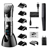 Hatteker Cordless Hair Trimmer Pro Hair Clippers Beard Trimmer for Men Haircut Kit Cordless USB Rechargeable Waterproof