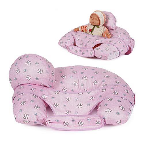 Almohada de alimentación para bebés con mini almohada gratuita y arnés de lactancia Almohada de lactancia,Púrpura