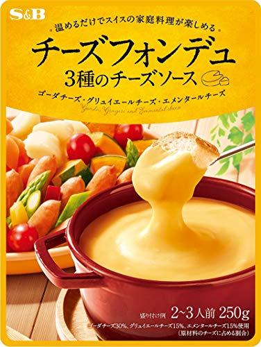 S&B チーズフォンデュ 3種のチーズソース 250g×5袋