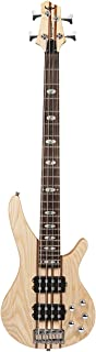 Electric Bass Guitar 4 Strings Full Size P Bass Beginner Kit Black for Starter with Gig Bag, Guitar Strap, and Guitar Cabl...