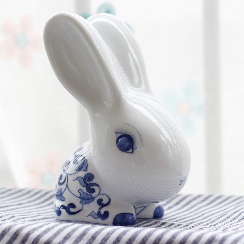 VIOY OrneHommests Peints à la Main en céramique Bleue et Blanche,Bleu,Taille Unique