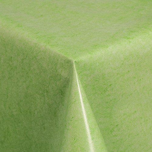Wachstuch Tischdecke Gartentischdecke mit Fleecerücken Gartentischdecke, Pflegeleicht Schmutzabweisend Abwaschbar Grün 100x 140 cm - Größe wählbar