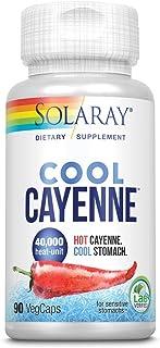 Solaray Cool Cool Cayenne 40,000 HU   Healthy Digestion, Circulation, Metabolism & Cardiovascular Support   90 VegCaps