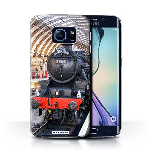 STUFF4 telefoonhoesje/hoes voor Samsung Galaxy S6 Edge/Fusilier/Platform Design/Steam Locomotive Collection