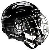 Bauer, Casco da hockey con grata, Unisex, Per Bambini LIL Sport Combo, Nero (Schwarz), Taglia unica