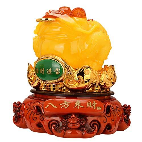 Buddha decorativos De gran tamaño negocio próspero dinero de Feng Shui de la rana (Rana de tres patas riqueza o dinero sapo) atraer abundancia y buena suerte, Feng Shui Decoración Buddha Figures Sculp