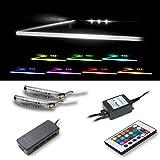 Vladon LED Clips für Glaskantenbeleuchtung in RGB 6er Set