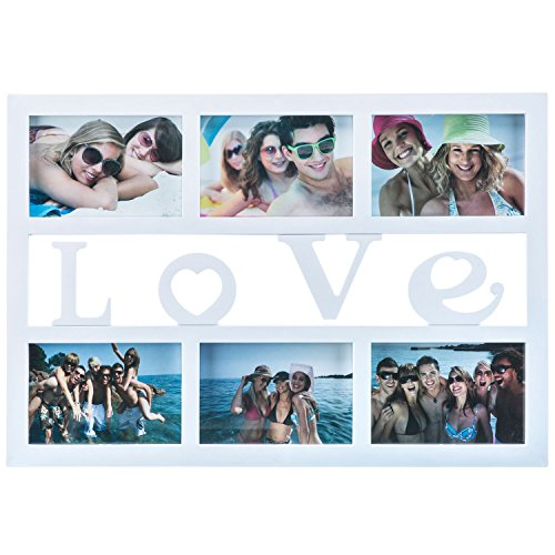 GOODS+GADGETS Love Bilderrahmen Fotorahmen Bildergalerie Foto-Collage Galerierahmen Wechselrahmen Bilderhalter