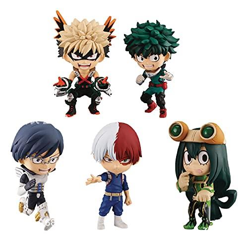 5 Unids / Set 7 Cm My Hero Academia Figura Izuku Midoriya Shouto Todorok Asui Tsuyu Anime Figuras De Acción Colección Decoración Modelo Juguetes Niños