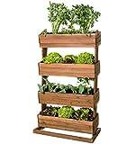 Hochbeet mit 4 Etagen Cube 4 - Gemüsebeet Kräuterbeet - Beet für Terrasse Balkon & Garten
