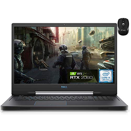 2021 Flagship Dell G7 17 7790 Gaming Laptop 17.3' FHD IPS 144Hz Intel 4-Core i5-9300H(I7-8665U) 16GB RAM 512GB SSD + 1TB HDD GeForce RTX 2060 6GB Backlit Thunderbolt Win10 + iCarp Wireless Mouse
