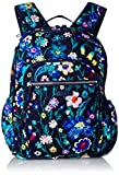 Vera Bradley Women's Signature Cotton Campus Backpack, Moonlight Garden, One Size