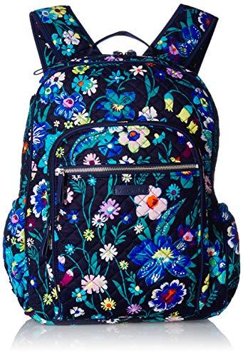 Vera Bradley Women's Signature Cotton Campus Backpack, Moonlight Garden, One Size