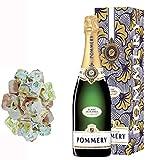 Champagne Pommery - prerrogativa Blanc de Blancs y cajas menores de 150 g nougadets Hazel - Jonquier dos hermanos