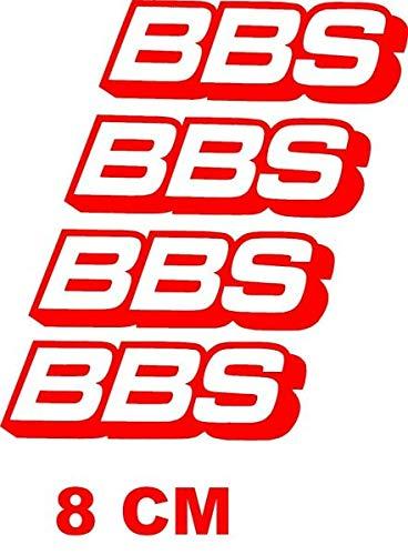 myrockshirt BBS Felgenaufkleber 4 Stück Aufkleber,Sticker,Decal,Autoaufkleber,UV&Waschanlagenfest,Profi-Qualität