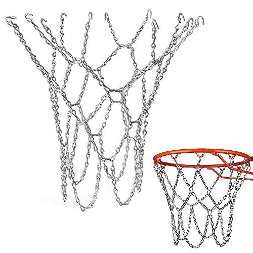 YeenGreen Basketballnetz Ersatz, Metall basketballnetz Outdoor, Verzinktes Metallnetz Basketballnetz, Eisenkette Basketballnetz Sportartikel für Outdoor Oder Indoor Basketballnetz
