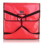 New Star Foodservice 50400 Insulated Pizza Delivery Bag, 24' by 24' by 5', Red