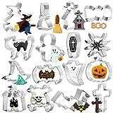 Halloween Ausstechformen Set für Kinder, 16 Keksausstecher