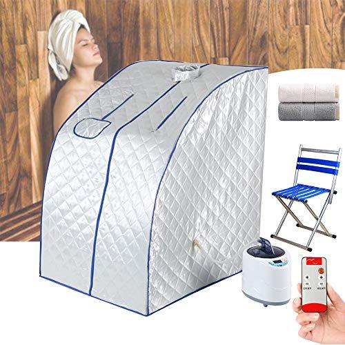 ZYQDRZ Tragbare Dampfsauna, 2-Liter-spa-dampfsauna, Fernbedienungstemperatur, Abnehmendes Spa-Zelt Zur Linderung Von Müdigkeit