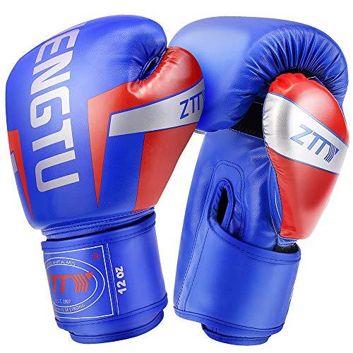 ZTTYボクシンググローブ PUレザー パンチンググローブ 通気性 キックボクシング トレーニンググローブ 格闘技グローブ サンドバッグ 空手 ミット 男女兼用 子供 (?&?, 8oz)