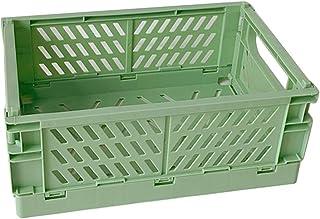 KERDEJAR Caisse Pliable boîte de Rangement Pliante en Plastique Panier Utilitaire conteneur cosmétique Support de Bureau U...