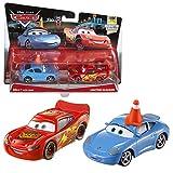 Disney Cars Cast 1:55 - Selección Modelos de Vehículos Doble Pack, Cars Doppelpacks:Sally & Lightning McQueen