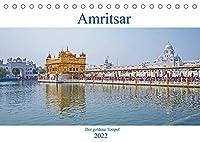 Amritsar - Der goldene Tempel (Tischkalender 2022 DIN A5 quer): Ein Rundgang durch das Heiligtum der Sikhreligion (Monatskalender, 14 Seiten )