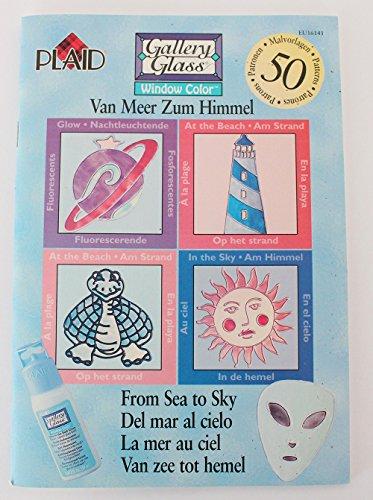 Plaid Enterprises Buch Window Color • Vom Meer zum Himmel • NEU • 50 Malvorlagen