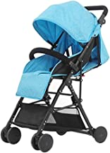 WDOPZMS Baby Stroller for Children - Lightweight Foldable Baby Umbrella Stroller, 3 in 1 Baby Pushchair Travel System for Children & Kids from Birth to 25 Kg - Lying Position (Color : Blue)