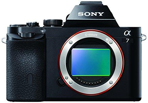 Sony Alpha ILCE-7 - Cámara EVIL (sensor Full Frame de 35 mm, 24.3 Mp, procesado en 16 bits, visor OLED, vídeo Full HD, Wi -Fi y NFC, sólo cuerpo) color negro
