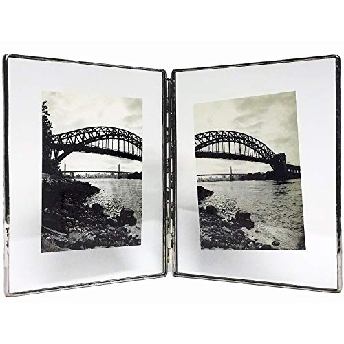 How To see Clear Glass Float Frame 5x7/7x9 Hinged Double Silver by ...