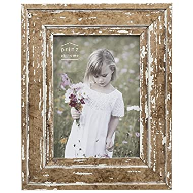 PRINZ 8x10 Old Mill Distressed White Wood Frame