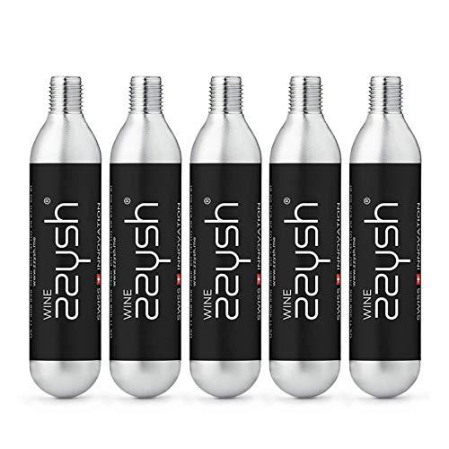 zzysh Wine 5 Kartuschen für zzysh Wine Handstück, Mit Argon Gas, Für bis zu 8 Benutzungen, Stahl, 201-1010-0001