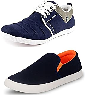 Maddy Men's Combo Pack of 2 Blue Sneakers in Various Sizes