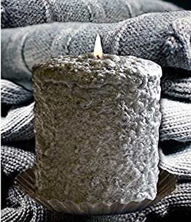 Warm Glow Candle Company 5'' Hand Dipped Country Fresh Hearth Candle (Grey Cashmere)