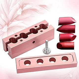 XingYue Direct 12.1 DIY Lipstick Mold Aluminum Alloy Rose Gold Dual Uses Lip Balm Maker Tool (2 Holes) (Style : 4 Holes)