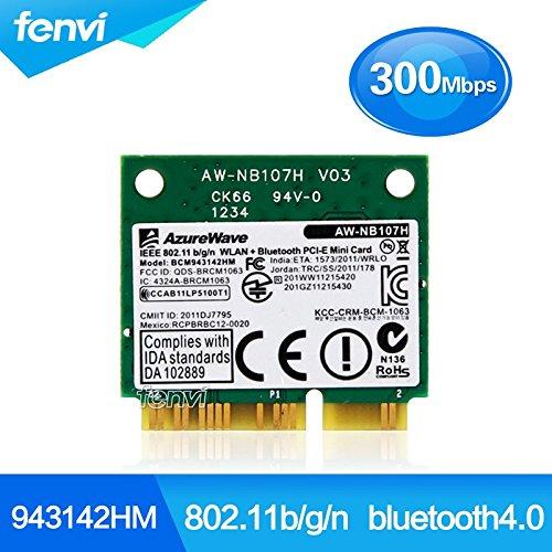 ARBUYSHOP Broadcom BCM943142HM 802.11b / g / n 300M drahtlose Wifi + BT Bluetooth 4.0 Halb MINI pci-e-Karte für Laptop Bluetooth-Netzwerkadapter