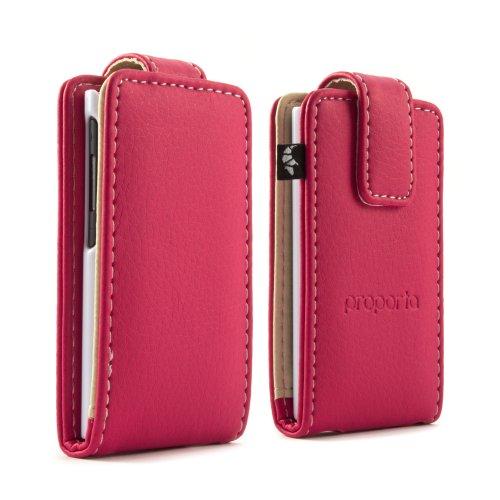 proporta Cover a Portafoglio per Apple iPod Nano 7G in Pelle Sintetica, Design Anti-Shock, Rosa