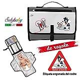 Cambiador Portátil de Pañales para bebe Impermeable - Kit Cambiador Bebe Viaje...