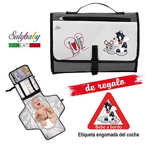 Cambiador Portátil de Pañales para Bebé - Kit Cambiador de Viaje -