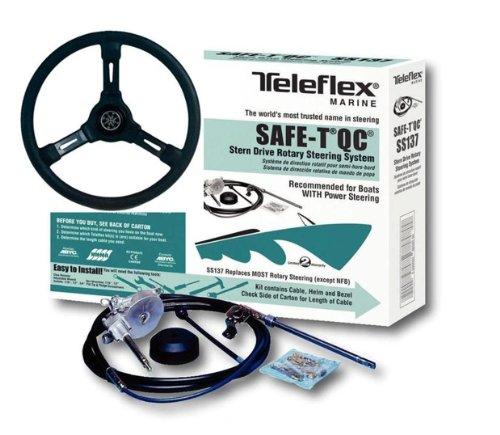 Teleflex Safe-T QC kompl mit Steuerrad. Steuerseele 13 Fuß 396cm bis 235PS