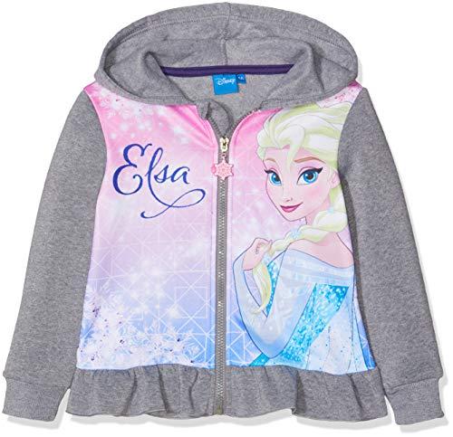 Disney Frozen Mädchen Frozen Sweatshirt, Grau Light Grey Melange, 8 Jahre