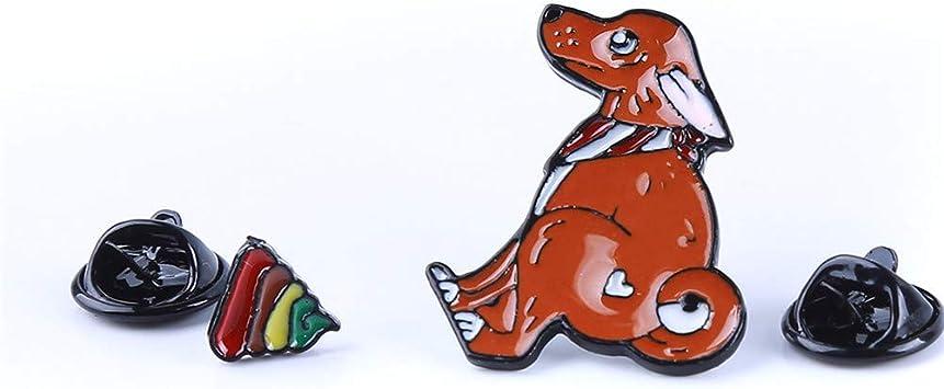 INSEET Niedlichen Cartoon Goldfisch Welpen Broschen Igel Rekord Pullover Abzeichen Emaille Pins Rucksack Kragen Brosche Schmuck F/ür Frauen