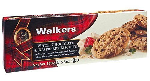 Walkers Shortbread Scottish Cookies White Chocolate & Raspberry, 5.3 Ounce (Pack of 4)