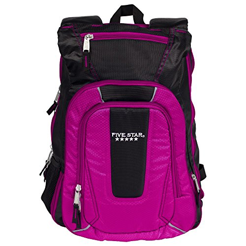 Five Star Expandable Backpack, School Backpack, Berry (73413)