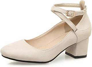 BalaMasa Womens Casual Solid Structured Urethane Pumps Shoes APL10610